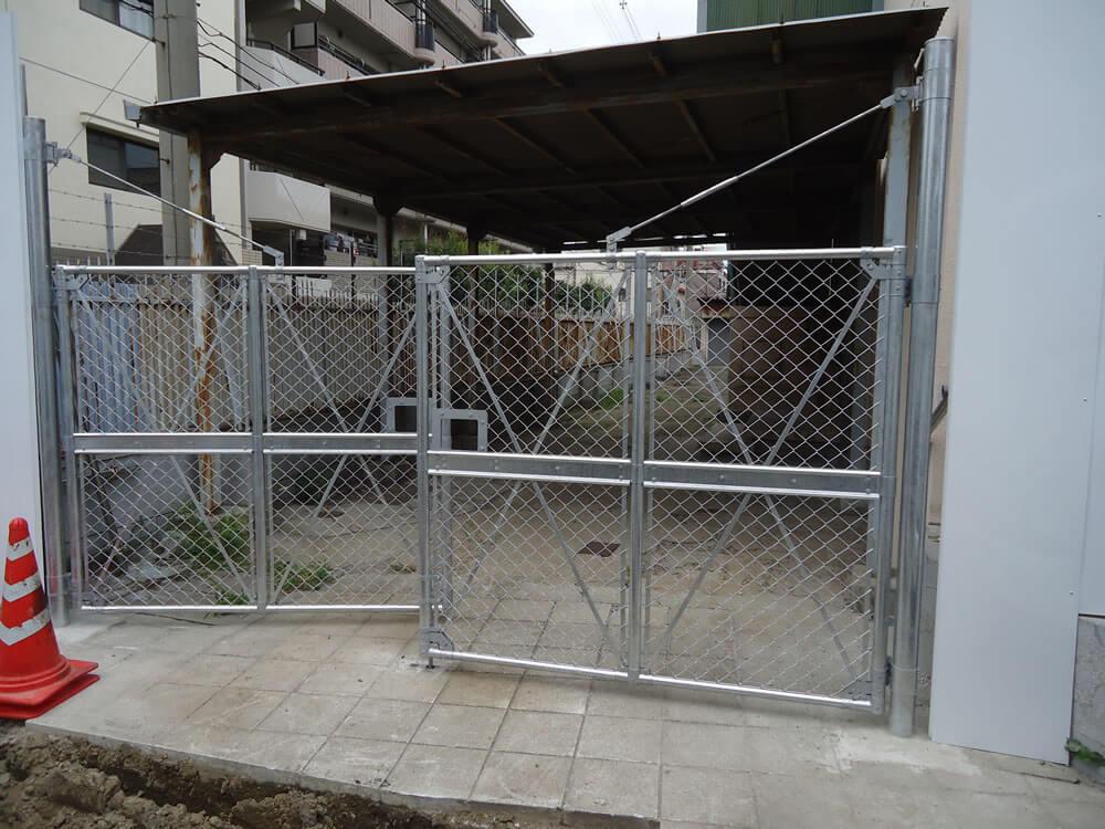 元西成保険センター銅板塀設置工事